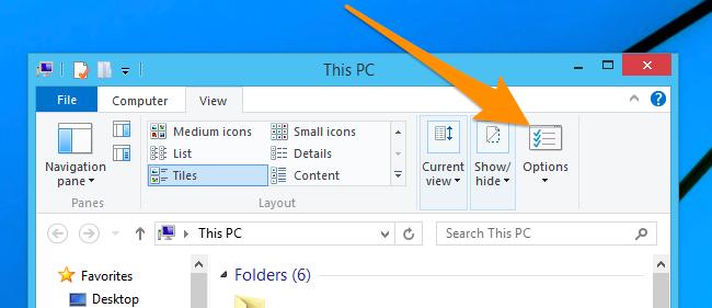 Opcja wyszukiwania Folder Win 10 lub 8