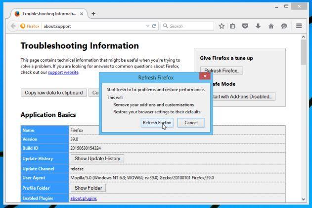 Resetowanie Mozilla Firefox 2